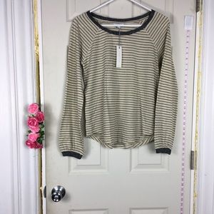 Lucky Brand Striped Tee Long sleeve Cotton S/P NWT